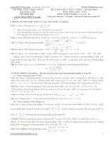 đề thi thử đại học lần 1 môn toán khối a,b,d 2014 - thpt triệu sơn