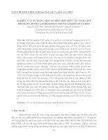 NGHIÊN CỨU SỬ DỤNG MỘT SỐ HỖN HỢP THỨC ĂN TINH GIÀU PROTEIN CHO BÒ LAI BRAHMAN TRONG GIAI ĐOẠN VỖ BÉO doc