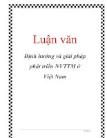 Luận văn: Định hướng và giải pháp phát triển NVTTM ở Việt Nam pptx