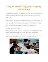 Tiếng Anh thiếu nhi: 6 nguyên tắc vàng trong việc dạy và học pptx