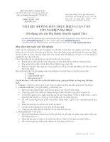 Tài liệu hướng dẫn làm luận văn tốt nghiệp