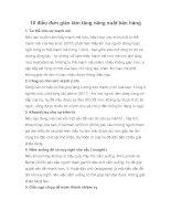 10 điều đơn giản làm tăng năng suất bán hàng doc