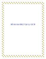 Đề thi thử môn vật lý học kì 2 2012 pptx