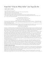 """Soạn bài """"Chị em Thúy Kiều"""" của Nguyễn Du"""