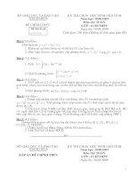 Tổng hợp đề thi và đáp án thi học sinh giỏi môn toán cấp tỉnh hệ bổ túc tỉnh Thanh Hóa năm 2009