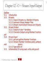 Chapter 12 - C++ Stream Input/Output ppt