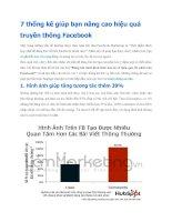 7 thống kê giúp bạn nâng cao hiệu quả truyền thông Facebook doc