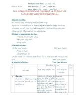 Giáo án số 7 - Bài 4: MỐI QUAN HỆ GIỮA BỘ PHẬN PHỤC VỤ ĂN UỐNG VỚI CÁC BỘ PHẬN KHÁC TRONG KHÁCH SẠN pdf