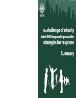 The challenge of obesity in the WHO European Region and the strategies for response pptx