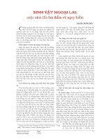 SINH VẬT NGOẠI LAI: cuộc xâm lấn âm thầm và nguy hiểm pptx