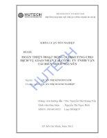 Luận văn: Một số giải pháp Marketing cho dịch vụ giao nhận tại công ty TNHH vận tải biển Minh Nguyên doc