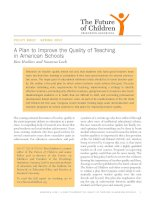 The plan to improve the Quality of Teaching in American Schools docx
