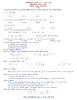 KIỂM TRA HỌC KÌ II – TOÁN 6 NĂM HỌC: 2010 – 2011 pdf