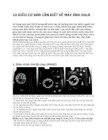 10 điều cơ bản cần BIẾT về máy ẢNH DSLR