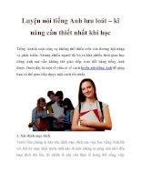Luyện nói tiếng Anh lưu loát – kĩ năng cần thiết nhất khi học pot