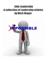 Elite Leadership: A collection of Leadership articles By Mark Wager doc