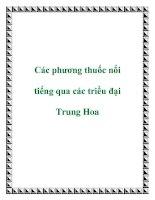 Các phương thuốc nổi tiếng qua các triều đại Trung Hoa docx