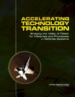 ACCELERATING TECHNOLOGY TRANSITION Bridging the Valley of Death for Materials and Processes in Defense Systems potx