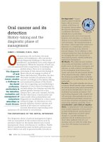 ORAL CANCER AND ITS DETECTION - HISTORY-TAKING AND THE DIAGNOSTIC PHASE OF MANAGEMENT pdf