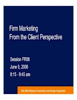 Firm Marketing From the Client Perspective 2006 doc