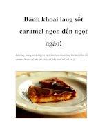 Bánh khoai lang sốt caramel ngon đến ngọt ngào ppt