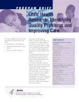 Child Health Research: Identifying Quality Problems and Improving Care pptx
