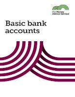 THE MONEY ADVICE SERVICE - Basic bank accounts doc