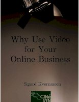 Why Use Video For Your Online Business pptx