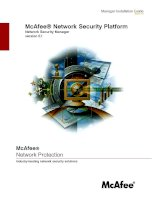 McAfee® Network Security Platform: Network Security Manager version 5.1 docx