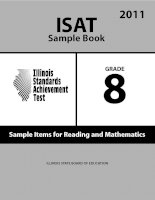 ISAT Sample Book 8: Sample Items for Reading and Mathematics 2011 ppt