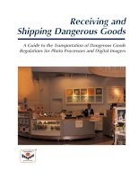 Receiving and Shipping Dangerous Goods - A Guide to the Transportation of Dangerous Goods Regulations for Photo Processors and Digital Imagers pptx