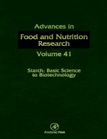 ADVANCES IN FOOD AND NUTRITION RESEARCH VOLUME 41 ppt