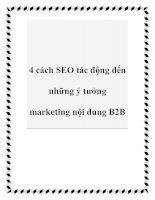 4 cách SEO tác động đến những ý tưởng marketing nội dung B2B pptx