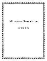 MS Access: Truy vấn cơ sở dữ liệu docx