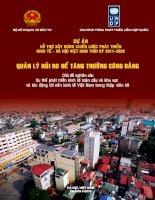 Dự án hổ trợ xây dựng chiến lược phát triển kinh tế xã hội Việt Nam thời kỳ 2011-2020 - Quản lý rủi ro để tăng trưởng công bằng potx