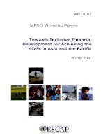 Towards Inclusive Financial Development for Achieving the MDGs in Asia and the Pacific pptx