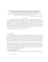 Kết quả khảo nghiệm một số dòng, giống vừng triển vọng vụ hè thu 2003 tại Diễn Hùng - Diễn Châu - Nghệ An pptx