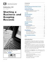 Publication 583 (Rev. December 2011) Starting a Business and Keeping Records docx