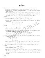 Tuyển Tập 45 Đề Ôn Thi Đại Học Toán 2013 - Đề 41 pot