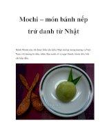 Mochi – món bánh nếp trứ danh từ Nhật ppt