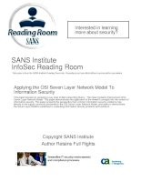 SANS Institute InfoSec Reading Room: Applying the OSI Seven Layer Network Model To Information Security pptx