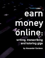 Earn Money Online: Writing, Transcribing and Tutoring Gigs