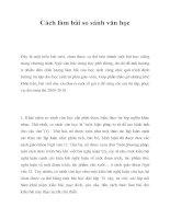Cách làm bài so sánh văn học potx