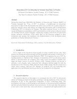Integration of ICT in Education in Vietnam doc