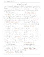Đề Thi Tốt Nghiệp Hóa 2013 - Phần 1 - Đề 11 potx