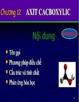 các dạng bài tập về axit cacboxit