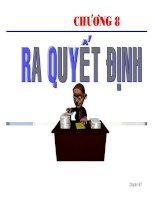 bài giảng quản trị tài chính - chương 8 - ra quyết định