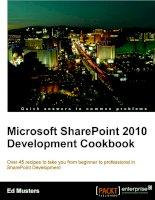 Microsoft SharePoint 2010 development cookbook ppt