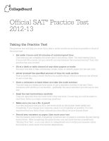Official SAT® Practice Test 2012-13 pptx