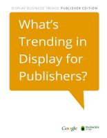 What's Trending in Display for Publishers? pdf